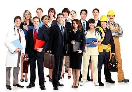 Assortment of Professionals in the Workforce