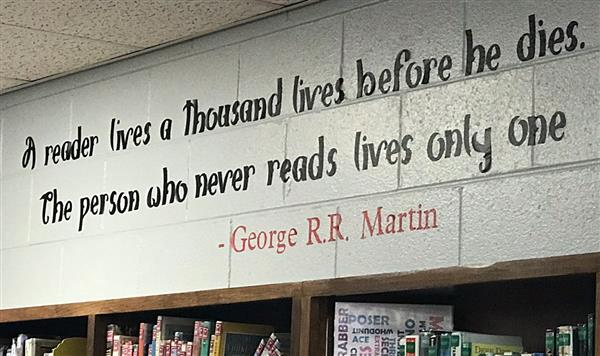 "George R.R. Martin Quote : ""A reader lives a thousand lives before he dies. The person who never reads lives only one"""