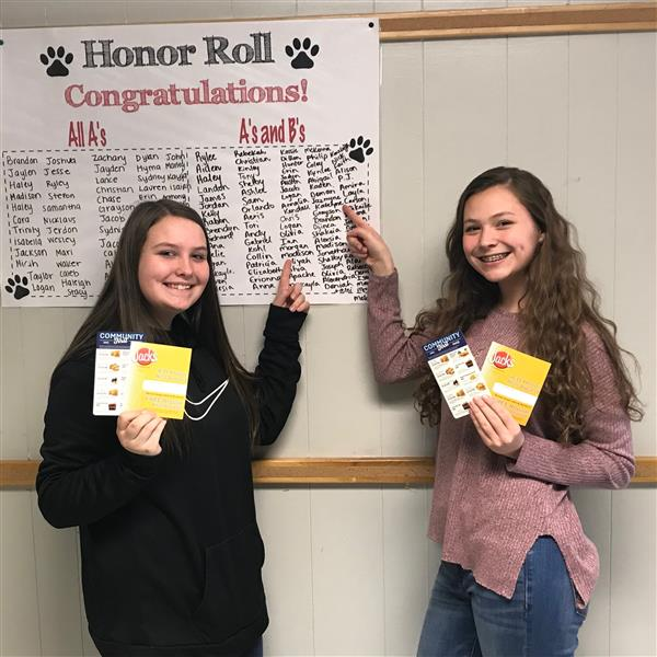 Aliyah Williams and Katelynn Gruber - WHS Honor Roll