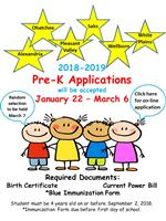 Click here for Pre-K Application Info