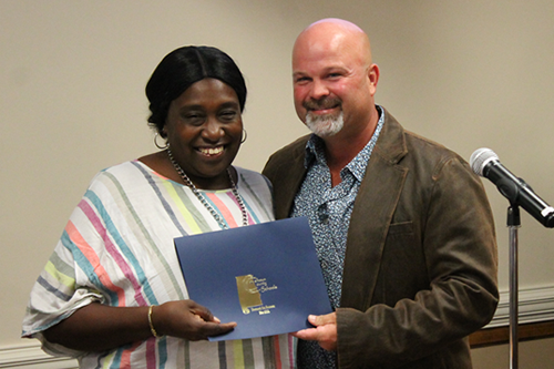 Althea Ashford receiving Employee of the Month