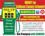 SAMCO-Pump money for Calhoun County Schools