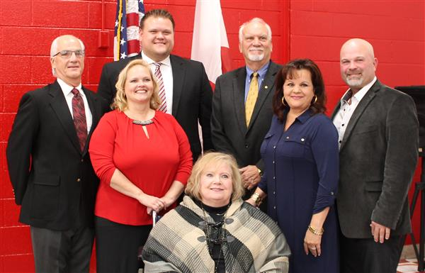 Group Picture of the Newly Elected Board Members of the Calhoun County Board of Education