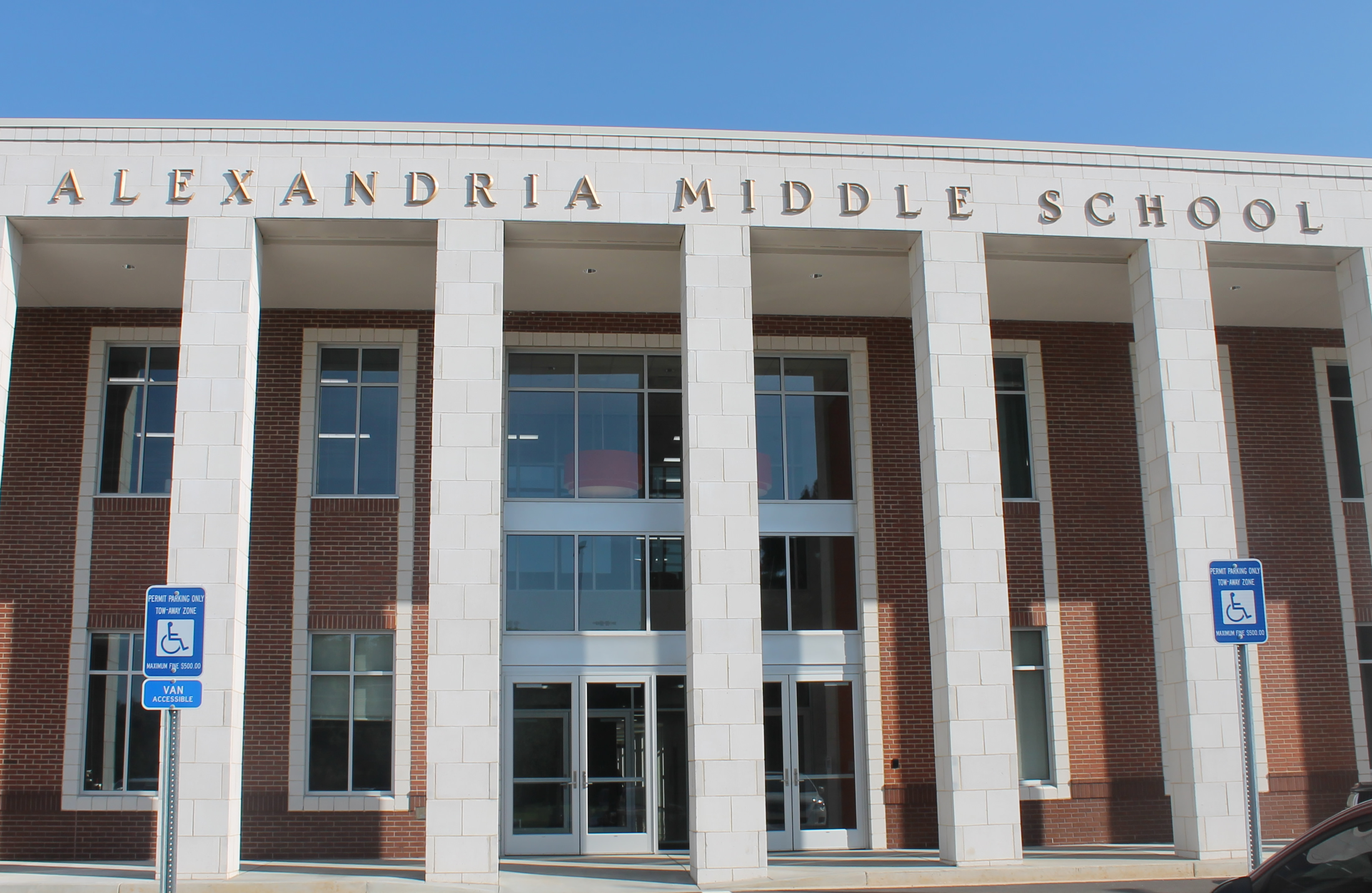 Alexandria Middle School Main Entrance
