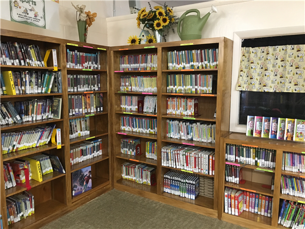 Weaver Elementary Chapter Book section