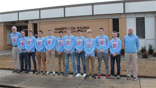 Pleasant Valley Boys Cross Country Team and Coaches