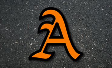 Alexandria logo over pavement